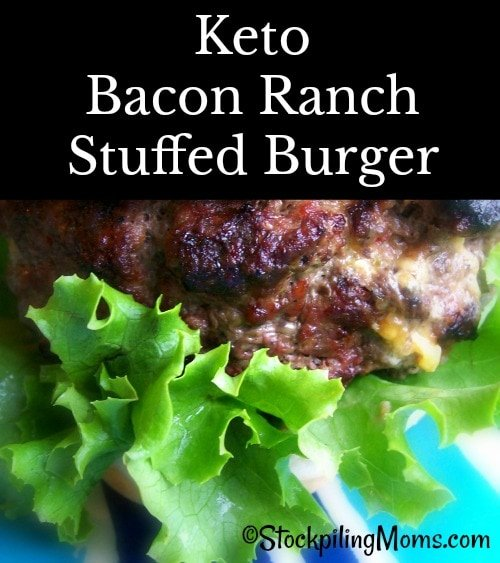 Keto Bacon Ranch Stuffed Burger is so fulfilling, tastes great and easy to make!