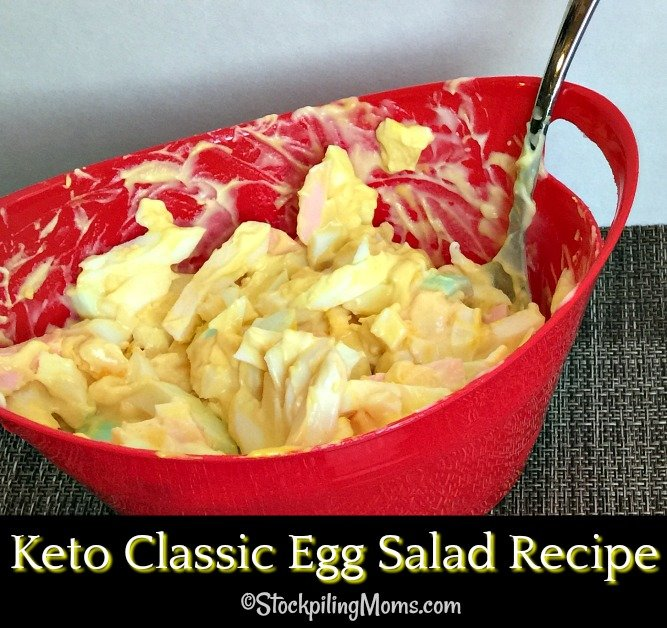 Keto Classic Egg Salad Recipe is so simple to make with a few ingredients and it will fill you up! Perfect for a quick lunch or dinner meal.
