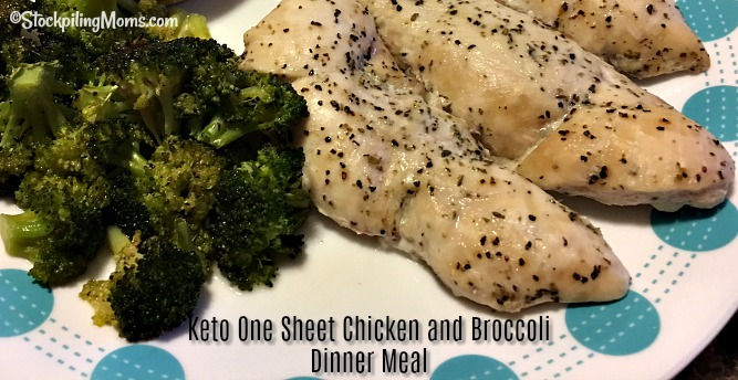 Keto One Sheet Chicken and Broccoli Dinner Meal is so good and easy to make! Ready in 30 minutes!