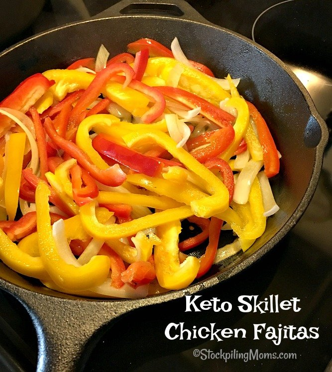 Keto Skillet Chicken Fajitas is a tasty meal you can make in less than 30 minutes!