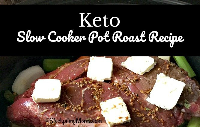Keto Slow Cooker Pot Roast Recipe is so easy and the low carb leftovers are perfect to take to work the next day!