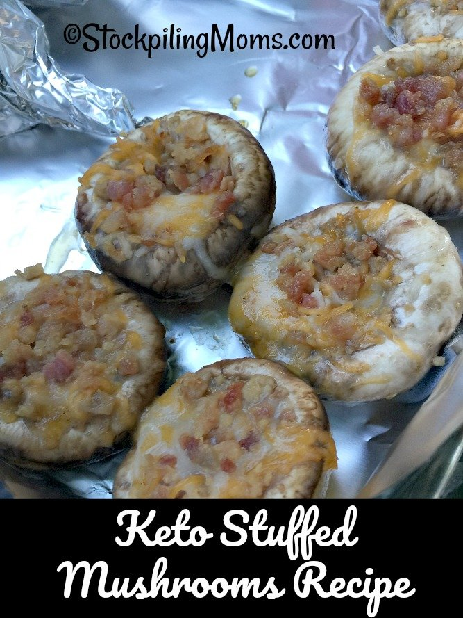 Keto Stuffed Mushrooms Recipe is the perfect party appetizer this summer!