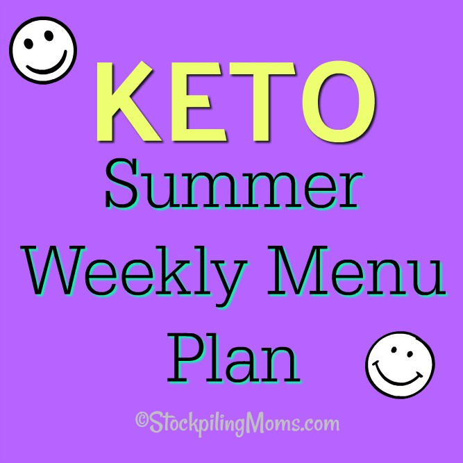 Keto Summer Weekly Menu Plan to help you stay on track and save money on dinner this week!