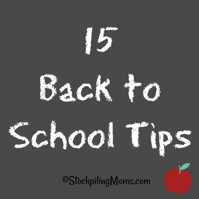 15 Back to School Tips to help the kids and parents as the school year starts!