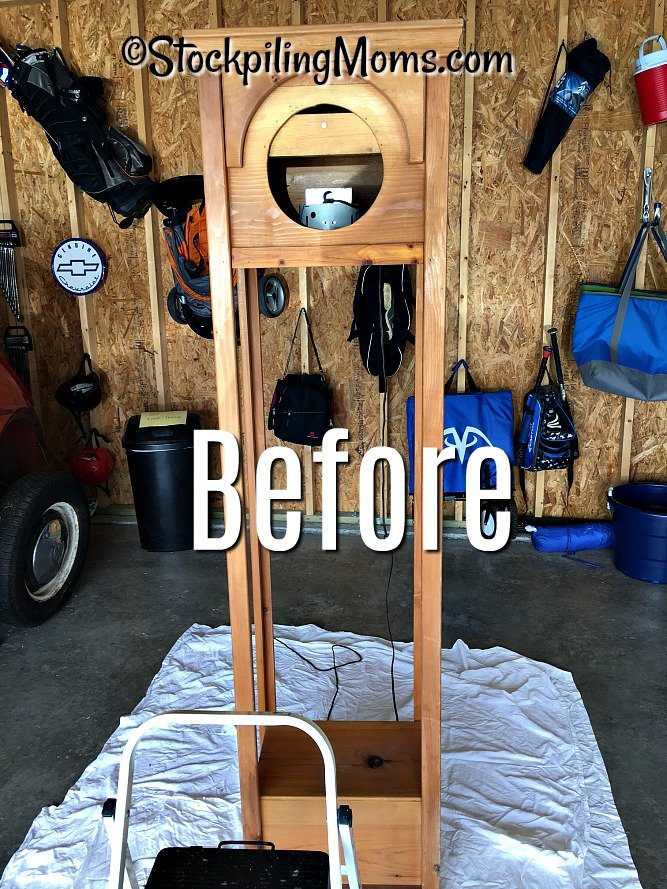 DIY Stained Clock Tower is an easy way to make over an old piece of furniture
