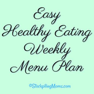 Easy Healthy Eating Weekly Menu Plan