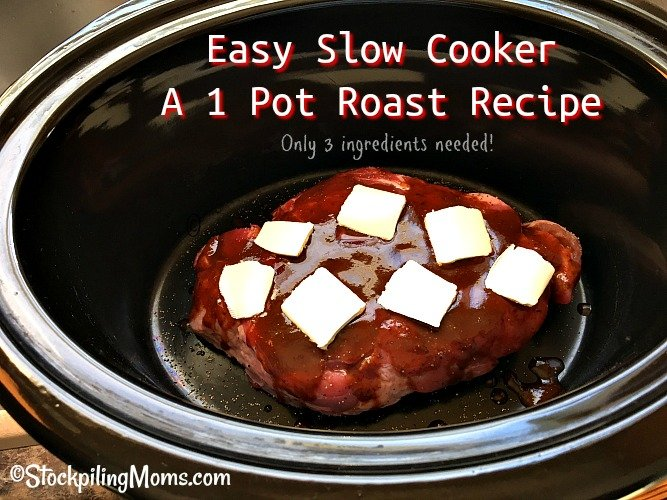 Easy Slow Cooker A 1 Pot Roast Recipe is a delicious, melt in your mouth dinner meal!