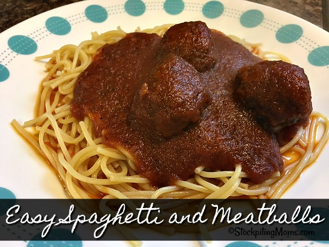 Easy Spaghetti and Meatballs recipe is a great 30 minute dinner meal for those busy nights!