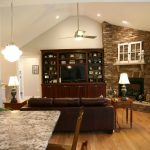 Great Room – Stone Fireplace and Custom Built In