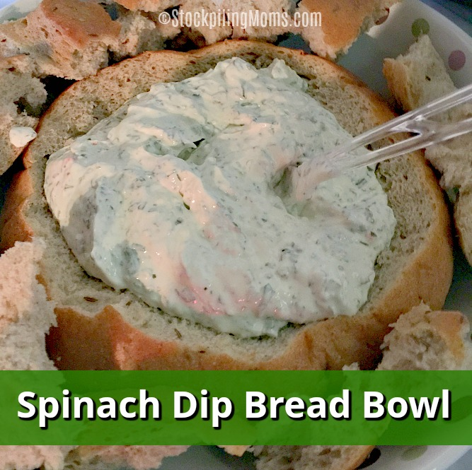 This delicious Spinach Dip Bread Bowl is so easy to make and a perfect party appetizer!