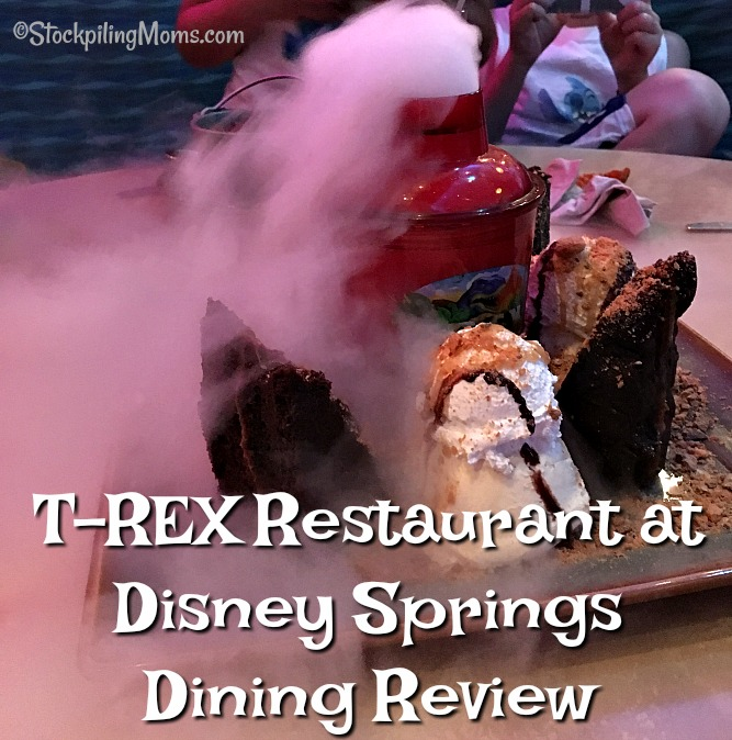 T rex restaurant at disney springs dining review for Disney dining reservations t rex