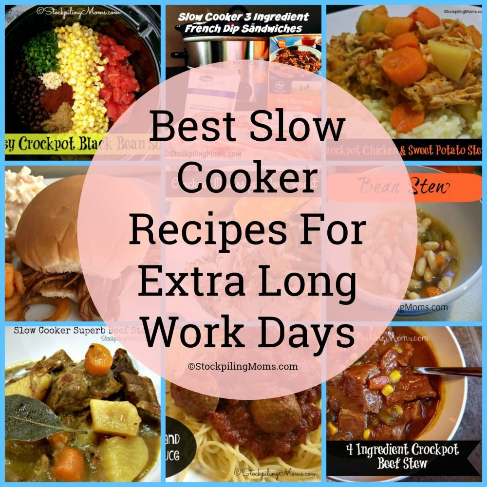 Best Slow Cooker Recipes For Extra Long Work Days. Do you find yourself away from home for 10+ hours? These recipes are for you!