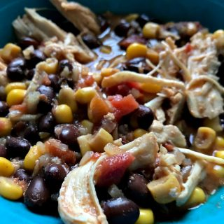 Crockpot Chicken & Rice with Black Beans Freezer Meal