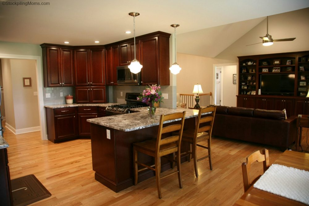 Kitchen Design - Dark Cherry Cabinets and Black Stainless ...