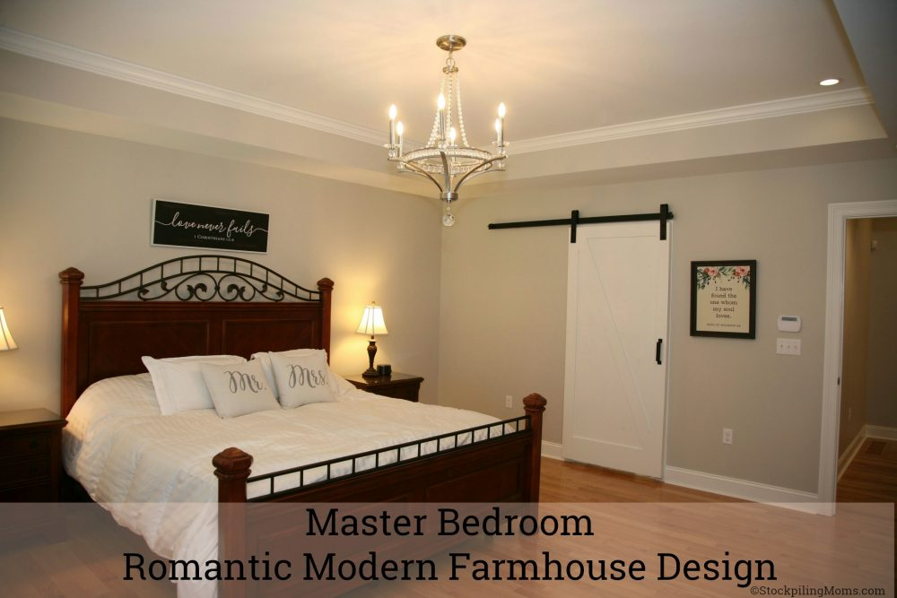 Master bedroom romantic modern farmhouse design Romantic modern master bedroom ideas