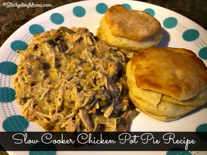 Slow Cooker Chicken Pot Pie Recipe is the perfect freezer meal for Fall and Winter!