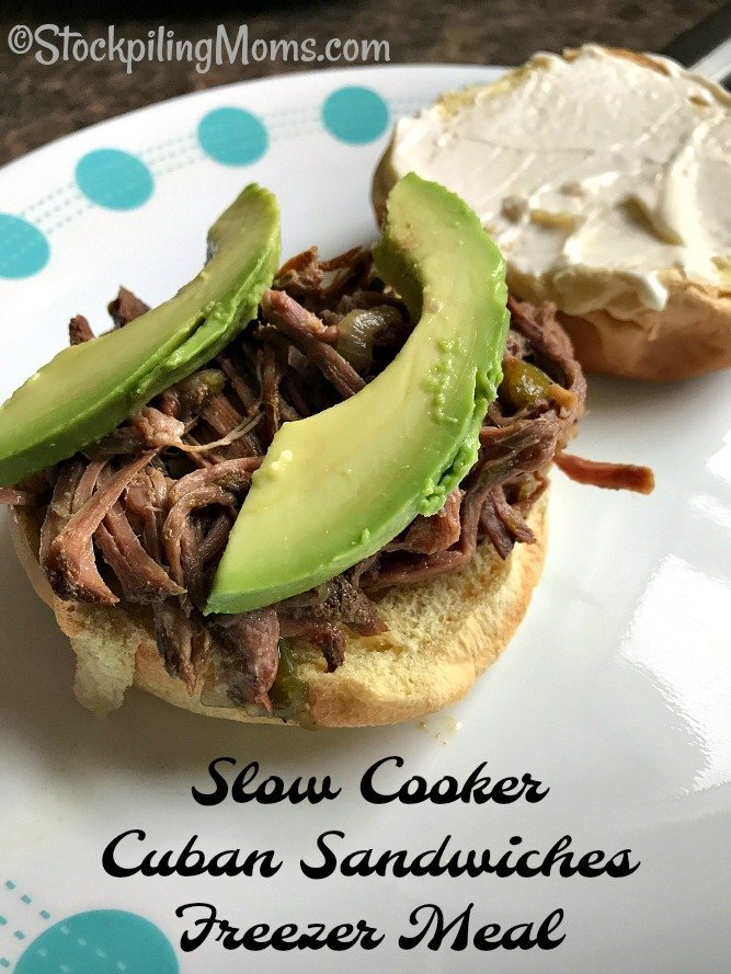 Slow Cooker Cuban Sandwiches Freezer Meal is full of so many flavors with each bite you take! Be sure to try it you won't be disappointed,