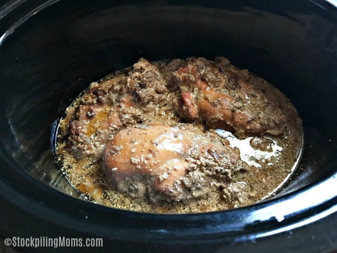 Slow Cooker French Onion Chicken Freezer Meal Recipe may not look pretty to the eye, but it is full of great taste!!!