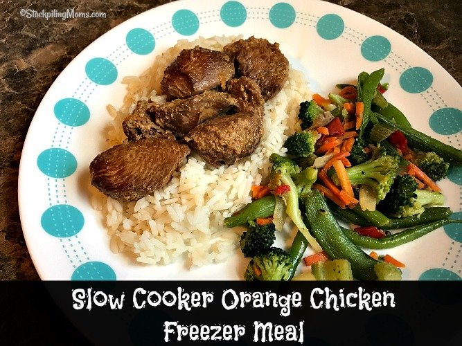 Slow Cooker Orange Chicken Freezer Meal tastes just like Chinese take out, but better!