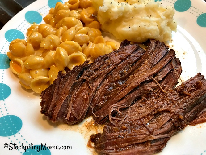 Slow Cooker Texas Roadhouse Pot Roast Freezer Meal Recipe is good and taste just like the going to the restaurant!