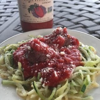 Low Carb Zoodles with Marinara Sauce