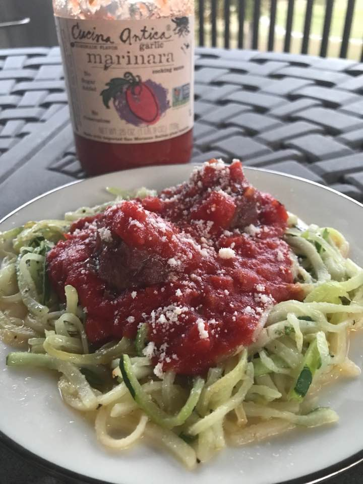 Low Carb Zoodles With Sauce