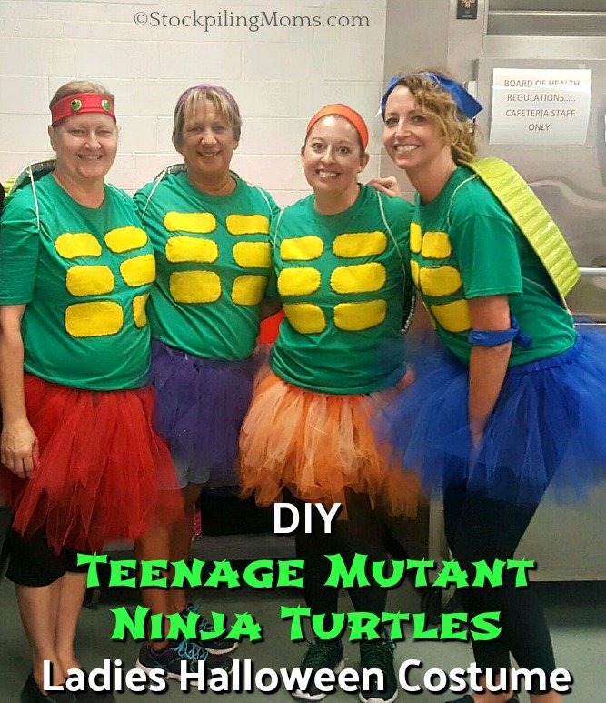 DIY Teenage Mutant Ninja Turtles Ladies Halloween Costume that is super adorable and easy to make!
