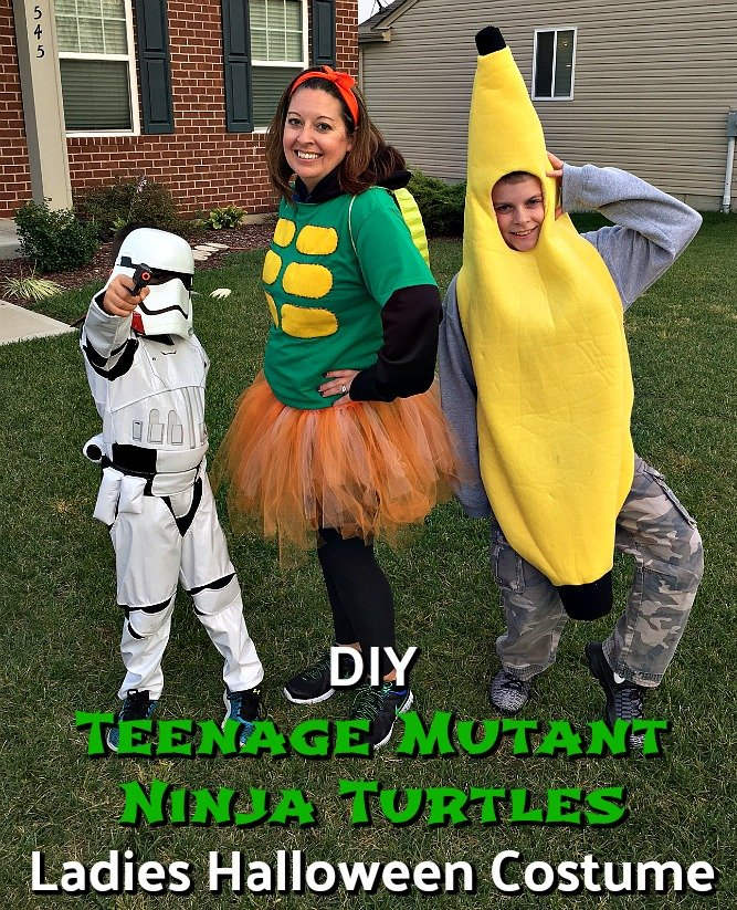 DIY Teenage Mutant Ninja Turtles Ladies Halloween Costume