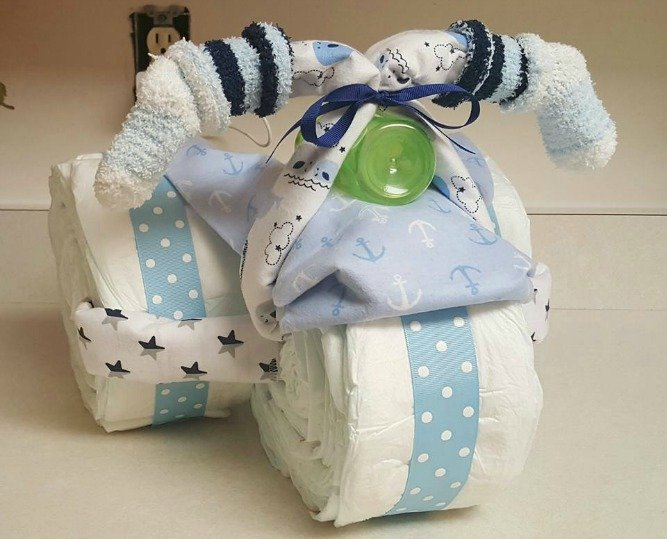How To Make An Easy Baby Diaper Cake
