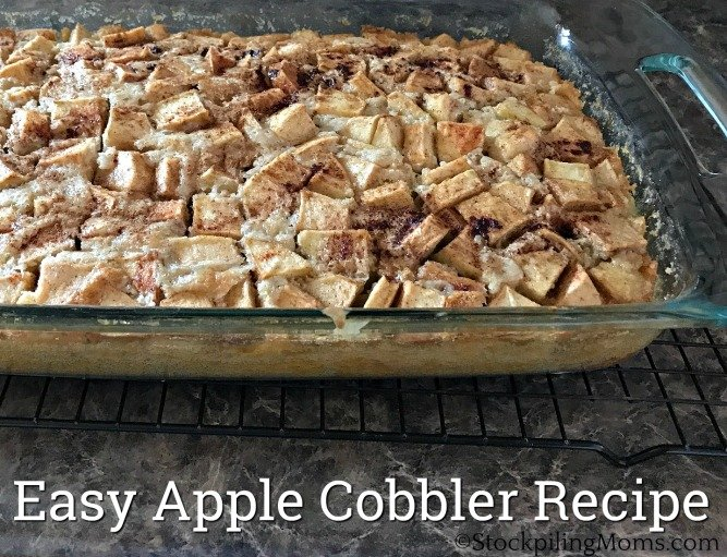 Easy Apple Cobbler Recipe that is the perfect dessert for Fall!