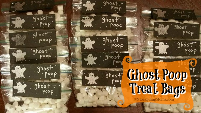 Ghost Poop Treat Bags is a fun craft to make at Halloween time!