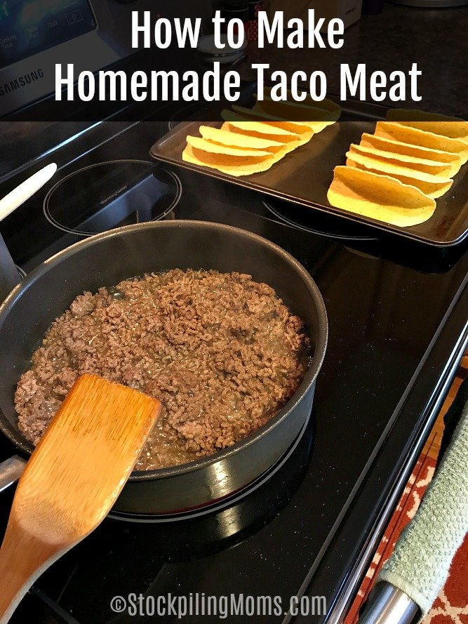 A great way to save money is to prep your own taco meat instead of using a seasoning packet. Once you invest in the spices this is a great money saver.