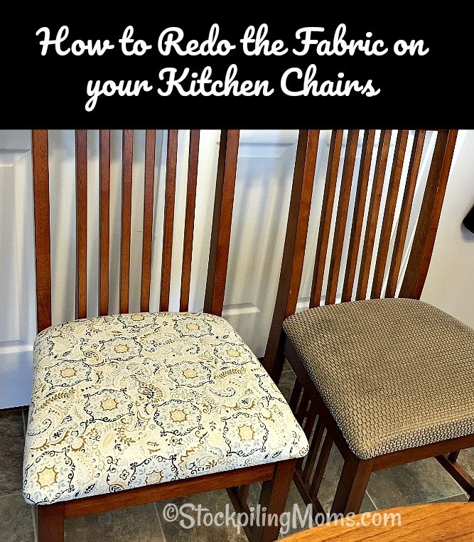 How to Redo the Fabric on your Kitchen Chairs