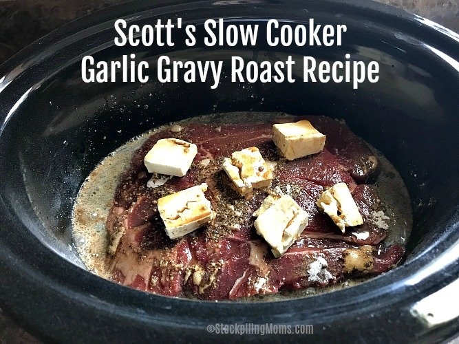 This Slow Cooker Garlic Gravy Roast Recipe is easy to prepare and tastes delicious!