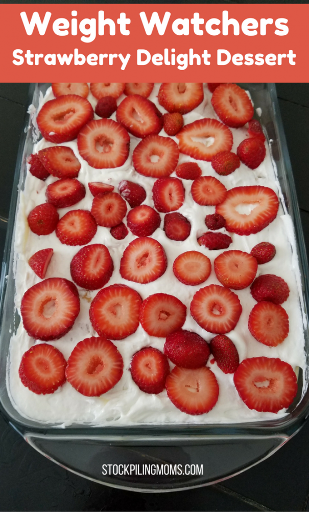 This Weight Watchers Strawberry Delight Dessert is a great easy treat that fits into your meal plan.