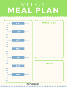 photograph regarding Free Printable Meal Plan called Totally free Menu Printable toward assistance oneself with Evening meal Prep - STOCKPILING