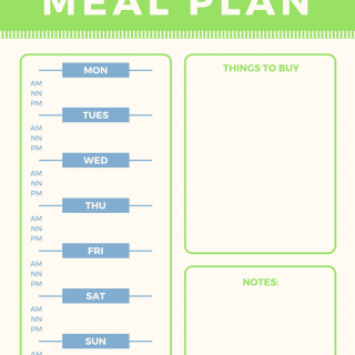 Free Menu Printable to help you with Meal Prep