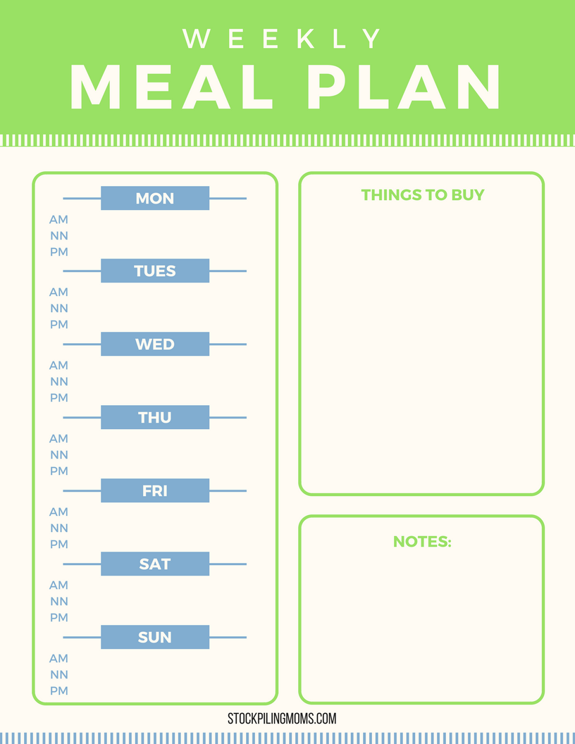 It is an image of Old Fashioned Meal Prep Printable