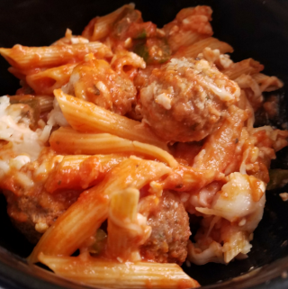 Weight Watchers Instant Pot Cheesy Penne with Meatballs