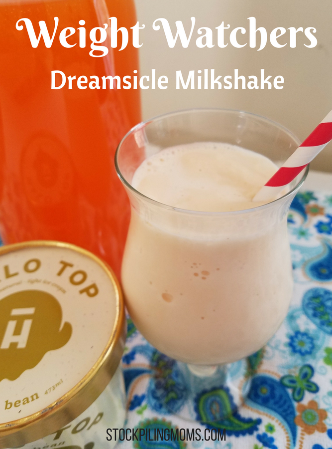 We have discovered the secret to being able to enjoy a dreamsicle milkshake while staying on Weight Watchers!