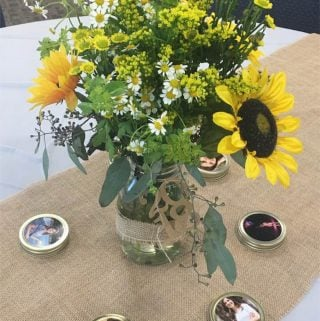 Inexpensive Rustic Graduation Table Centerpiece