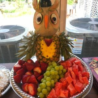 Graduation Party Owl Fruit Tray