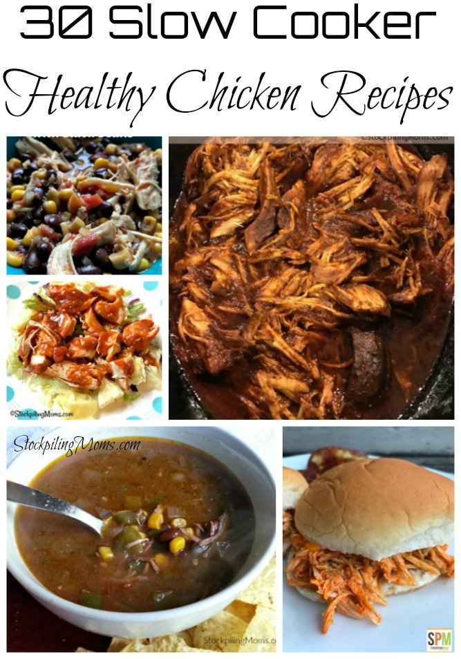 Enjoy these 30 Healthy Slow Cooker Healthy Chicken Recipes to help with your menu planning.