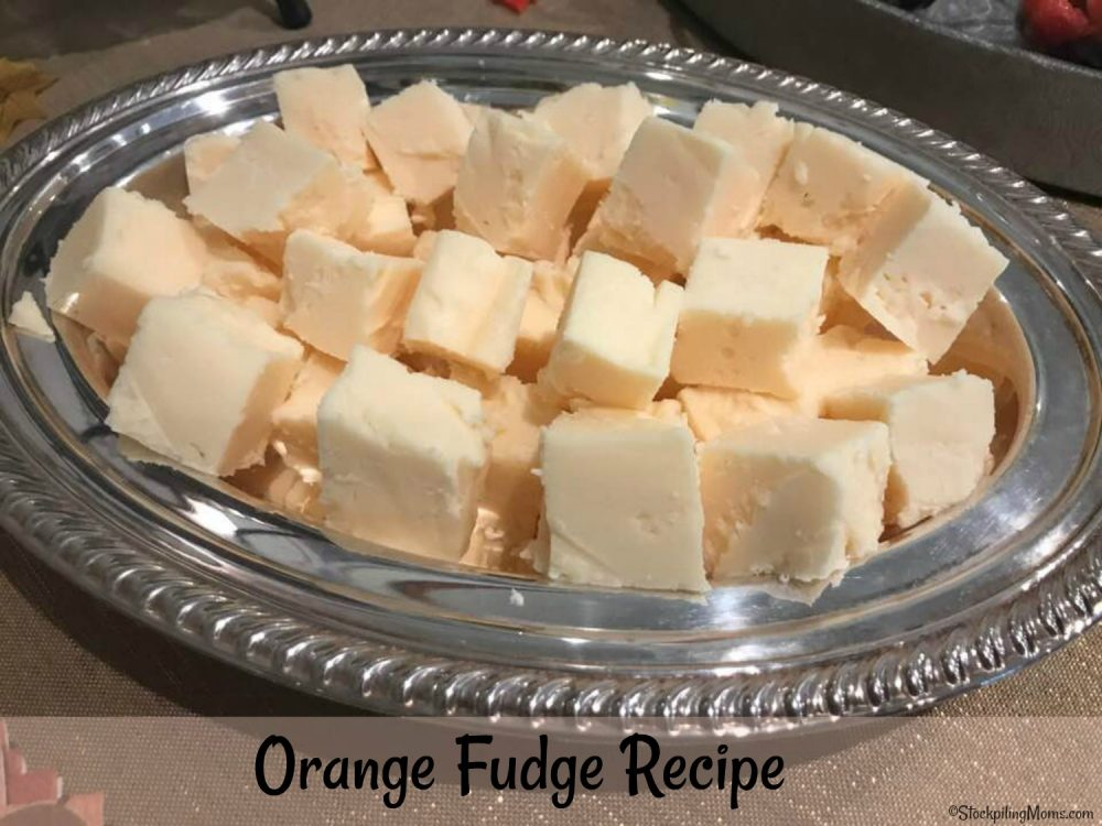 Orange Fudge is simply AMAZING! It is a light and creamy texture and the flavor is out of this world!