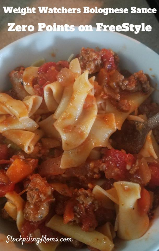 This zero point Weight Watchers Bolognese Sauce is going to become a family favorite. It comes together in under a half hour and is absolutely delicious!