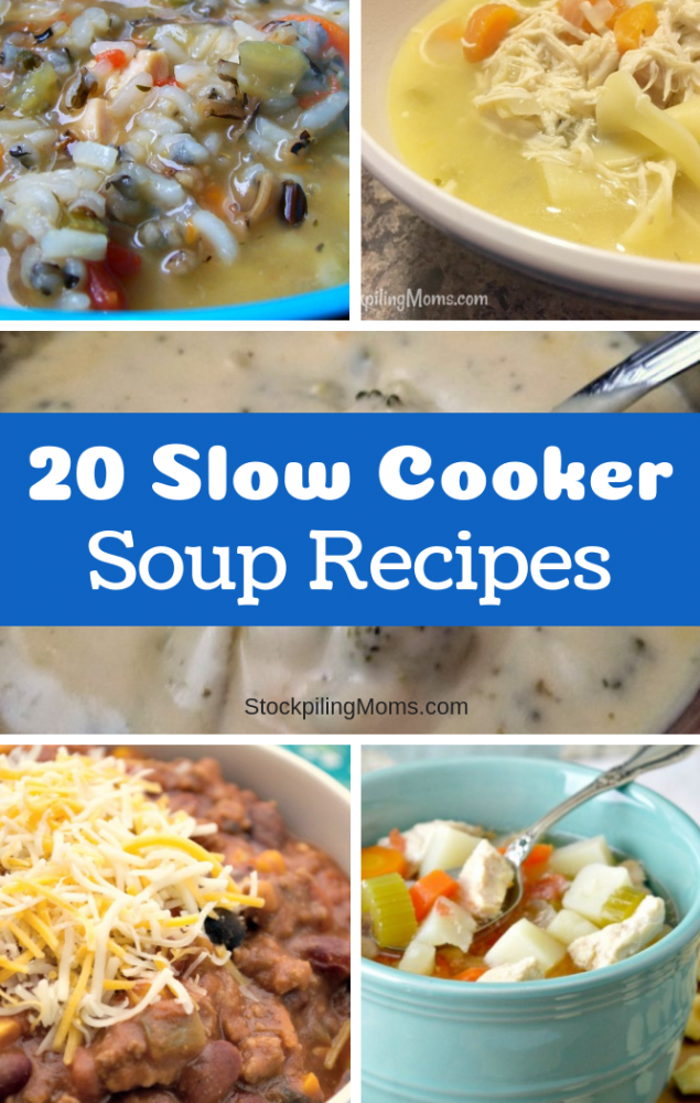 20 Delicious Slow Cooker Soup Recipes