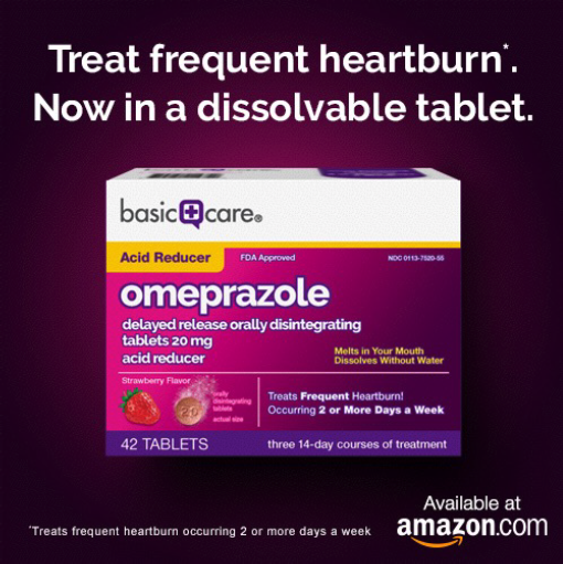 Basic Care Omeprazole ODT is now available at Amazon