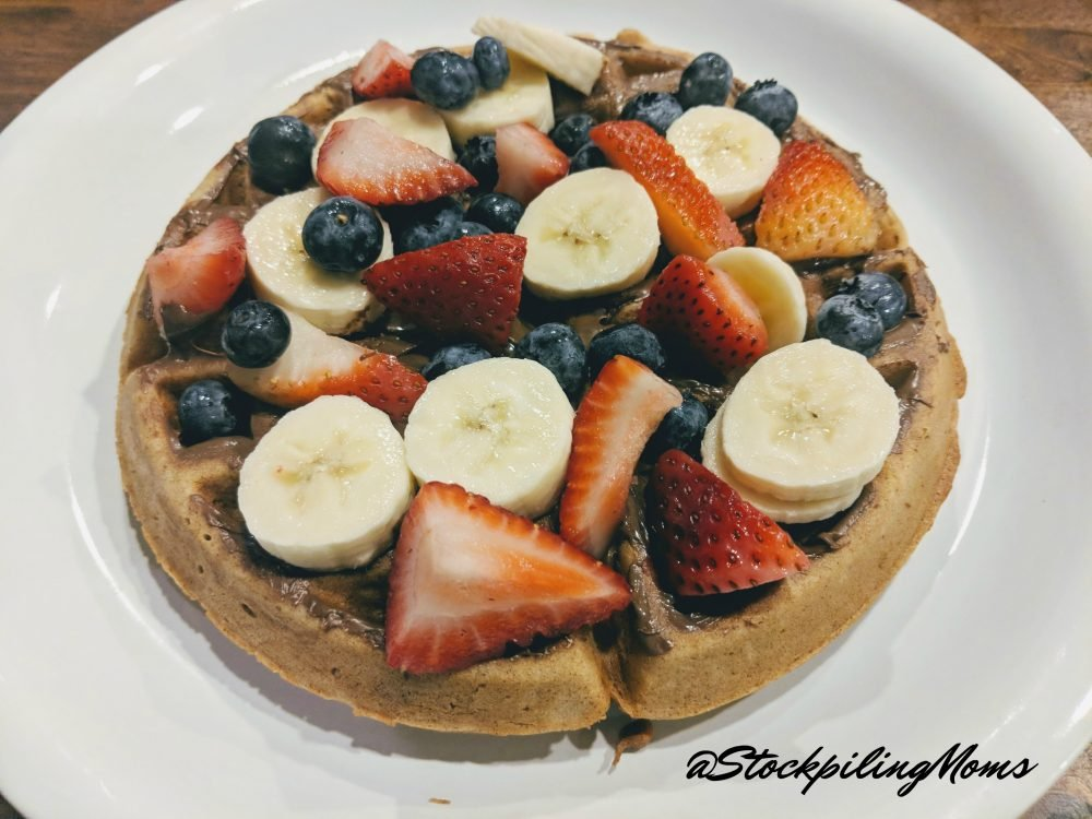 Fruit Nutella waffles are a great way to serve your kids fruit without them turning that nose up!
