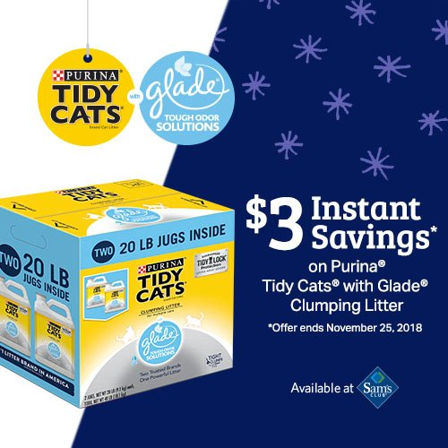 Save on Tidy Cats at Sam's Cllub