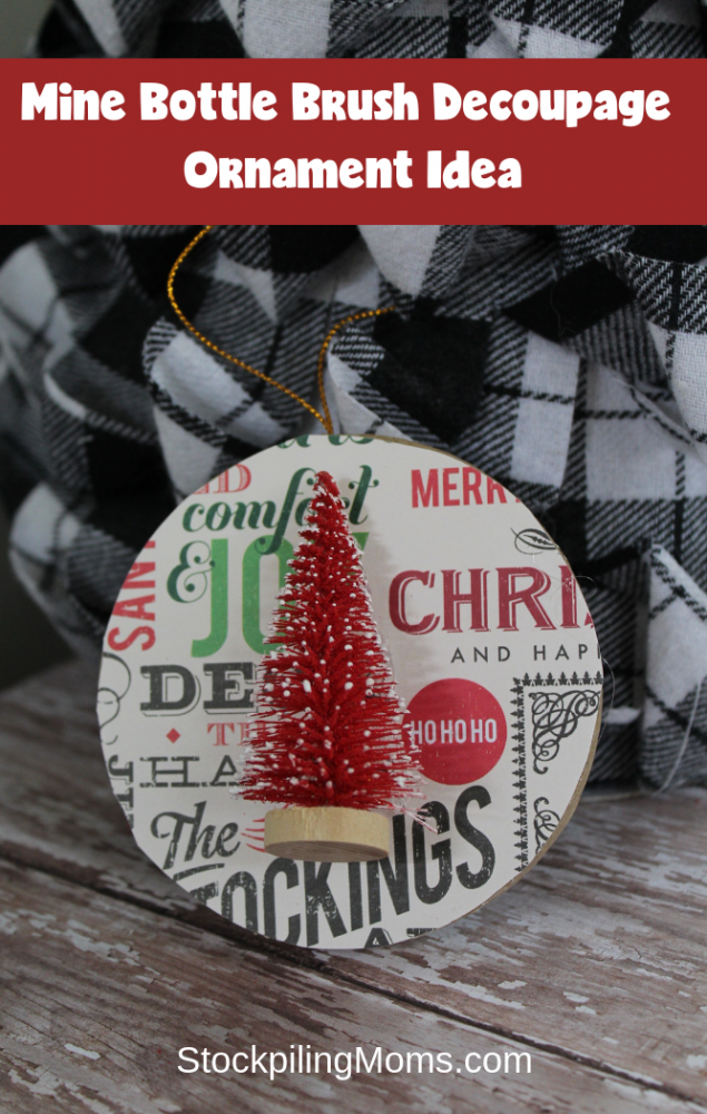 Easy Decoupage Christmas Ornament